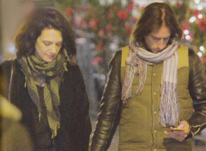 Asia Argento con l'ex marito