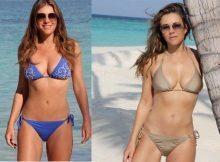 Liz Hurley, bikini da urlo in India