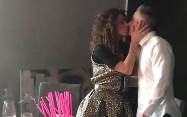 Raffaella Fico, compleanno a sorpresa con Moggi