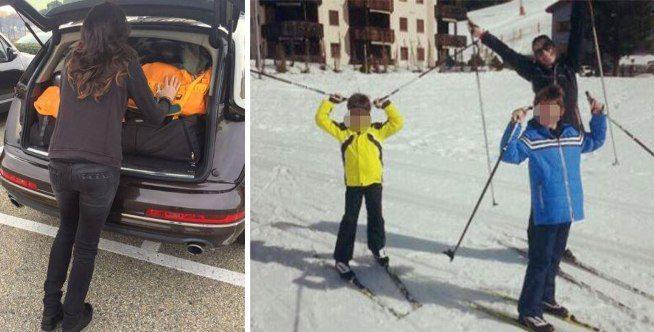 Alena Seredova, vacanza sulla neve con i figli di papà Buffon