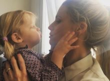 Michelle Hunziker, doppia festa per i due anni di Celeste Trussardi
