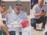 Luca Zingaretti, giornata d'estate al mare con le piccole donne di casa