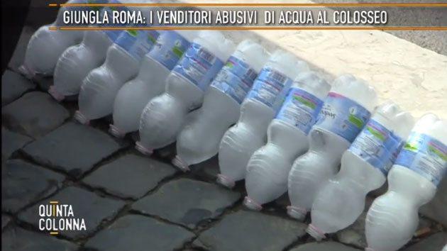 Acqua cumprà, gli affari illegali dei migranti vicino al Colosseo