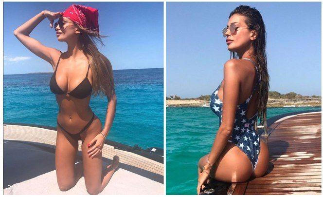 Cristina Buccino vacanze vip Ibiza estate single