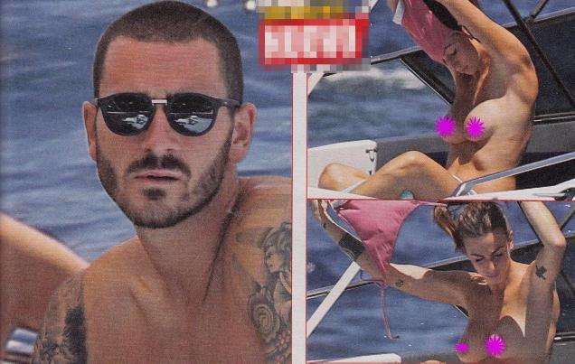 Moglie Bonucci, spogliarello in barca al largo di Capri